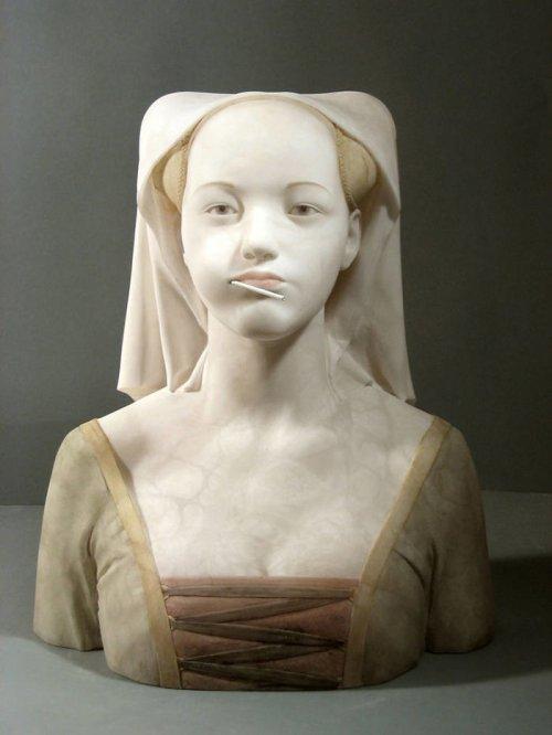 Скульптуры эпохи Возрождения в современном стиле (14 фото)