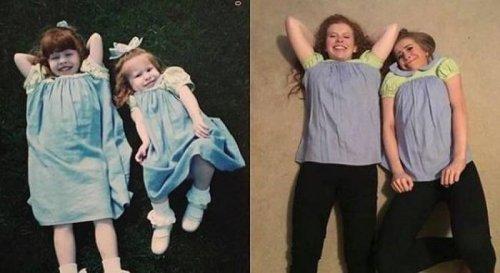 Из детства — в настоящее (24 фото)