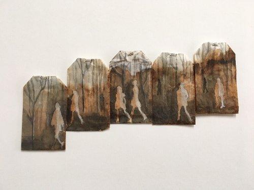 Миниатюрное искусство на чайных пакетиках (8 фото)