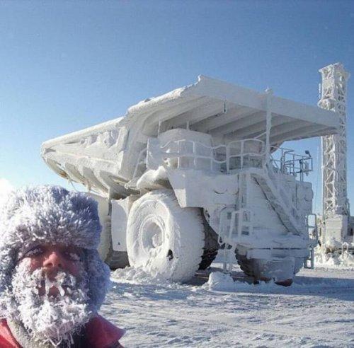 Когда приходит настоящая зима (19 фото)