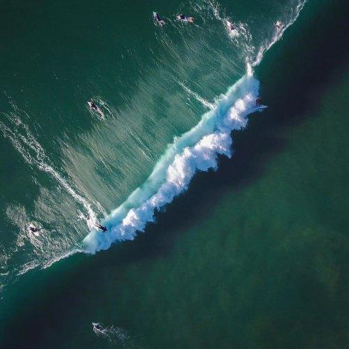 Морские пейзажи, сделанные с помощью дрона (16 фото)