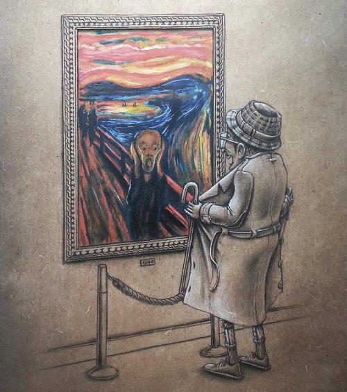 Французский художник переосмыслил культовые картины (5 фото)
