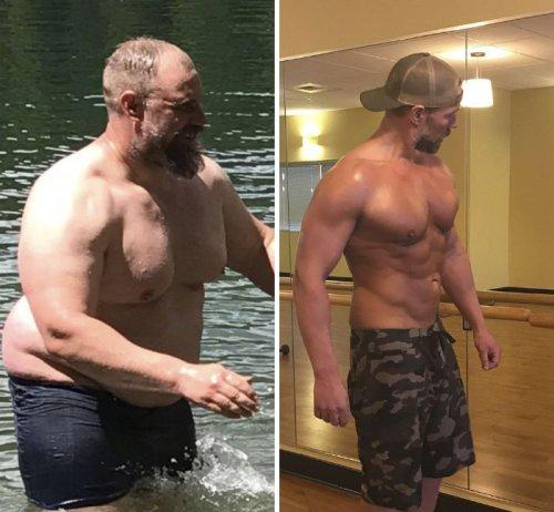 Мужчина похудел за полгода почти на 40 килограммов, чтобы стать лучшим отцом и мужем (15 фото)