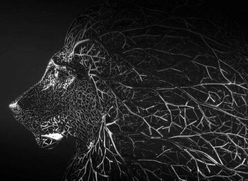 Изящные металлические скульптуры животных художника Кан Дон Хюна (10 фото)