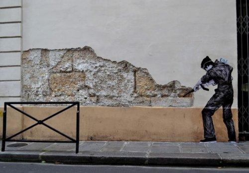 Стрит-арт художника Levalet (24 фото)