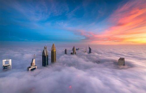 Утопающий в облаках Дубай в фотографиях Зохаиба Анджума (19 фото)
