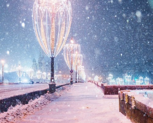 Снегопад превратил Москву в снежную сказку (19 фото)