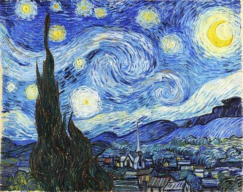 """Частный бассейн выложили плиткой, воспроизведя """"Звёздную ночь"""" Ван Гога (4 фото)"""