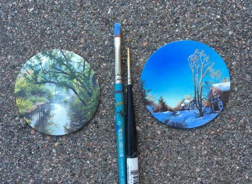 Миниатюрные пейзажи Дины Бродски (10 фото)