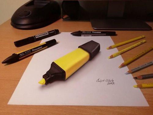 Новые реалистичные 3D-рисунки Николы Чулича (20 фото)