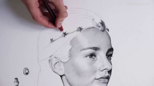 Художник-самоучка проводит сотни часов, создавая удивительные портреты с помощью миллионов точек (7 фото + 2 видео)
