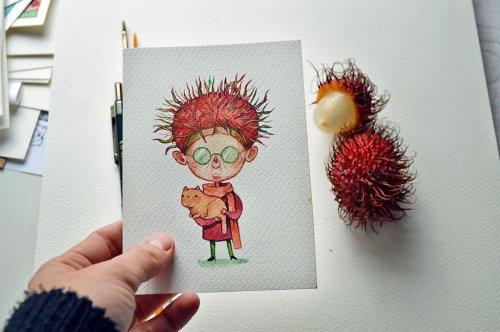 Забавные персонажи, вдохновлённые овощами и фруктами (11 фото)