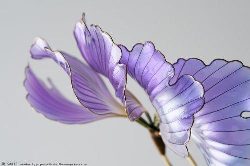"""Изящные цветочные украшения для волос """"канзаси"""" (10 фото)"""