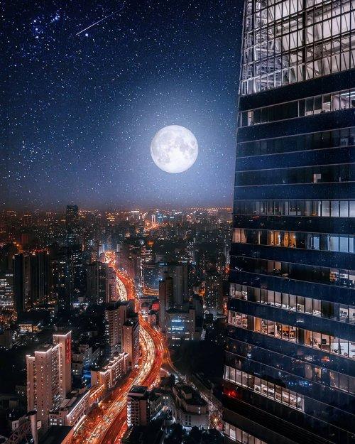 Аэрофотографии Шанхая, демонстрирующие красоту и динамичность мегаполиса (24 фото)