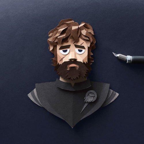 """Невероятно детализованные персонажи """"Игры престолов"""", вырезанные из бумаги (10 фото)"""