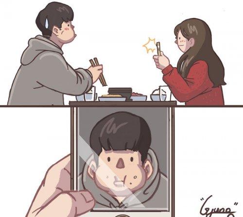 Простые и романтичные комиксы о любви и отношениях (21 шт)