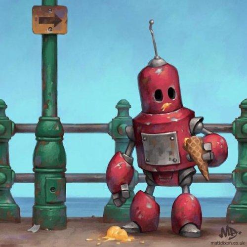 Очаровательные роботы Мэтта Диксона (26 фото)