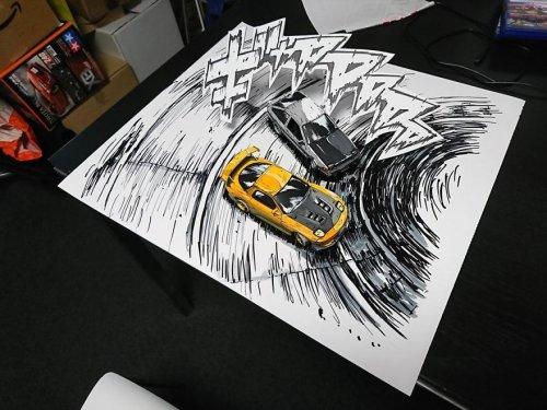 Иллюстрация в стиле манги с неожиданной иллюзией (11 фото)