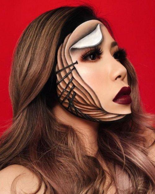 Новые невероятные иллюзии на лице Мими Чой (26 фото)