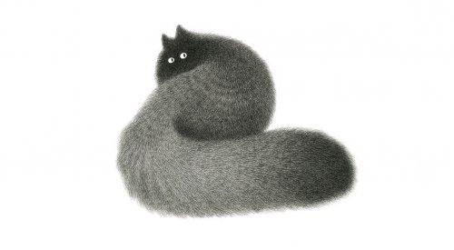 Пушистые кошки малазийского иллюстратора Камвея Фонга (10 фото)