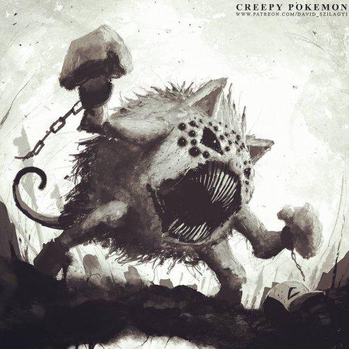 Художник изобразил покемонов хоррор-персонажами (19 фото)