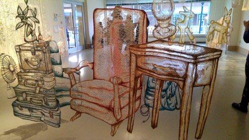 Сшитые скульптурные инсталляции Аманды Маккавур (14 фото)