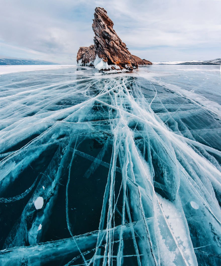 Бирюзовый лед байкала фото балейском районе