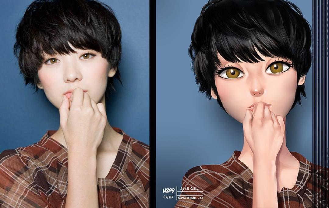 Как сделать из фотографии мультяшную картинку в фотошопе, английском