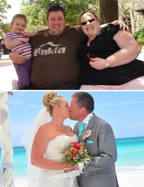 Фотографии пар до и после того, как они похудели вместе (18 фото)