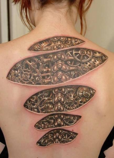 Невероятно реалистичные 3D-татуировки (26 фото)