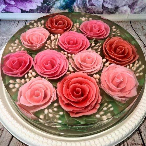 Цветочные торты-желе от Сью Хэн Бун (11 фото)