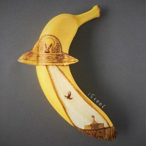 Голландский художник обычные бананы превращает в произведения искусства (22 фото)