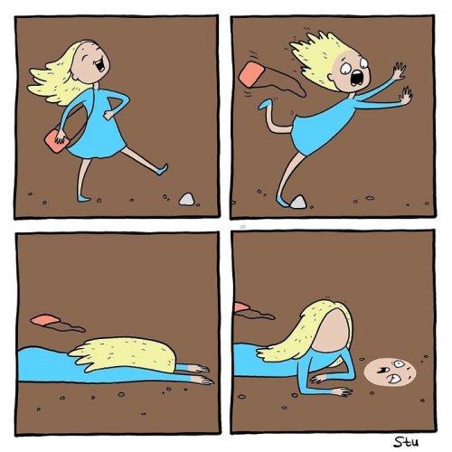 Забавные комиксы Анастасии Ивановой о повседневной жизни обычной девушки (17 фото)