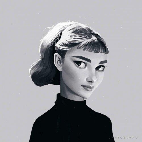 Вдохновляюще красивые иллюстрированные портреты, созданные художницей Дженис Сун (22 фото)