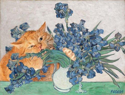 Кот Заратустра на полотнах знаменитых картин (13 фото)
