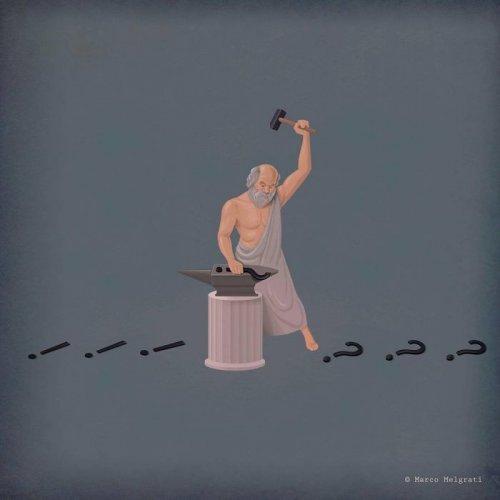 Печальная правда о современной жизни в иллюстрациях Марко Мелграти (21 фото)