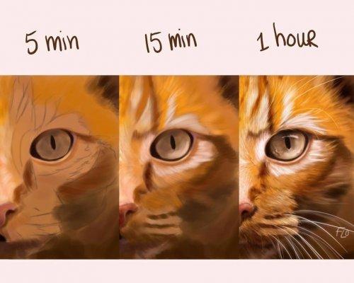 Художница наглядно показывает, сколько времени ей необходимо для создания идеального рисунка (25 фото)