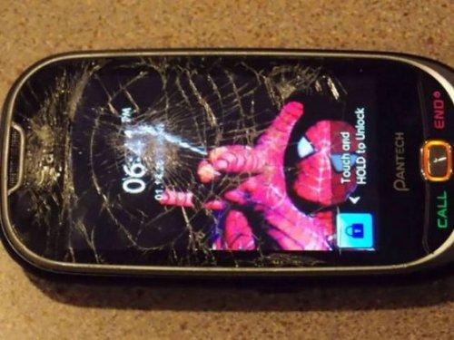 Креативные обои для смартфонов с треснувшим экраном (18 фото)