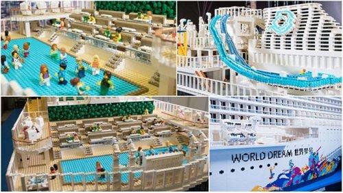 Крупнейшая в мире модель круизного лайнера из LEGO, построенная из более чем 2,5 млн кирпичиков (6 фото + видео)