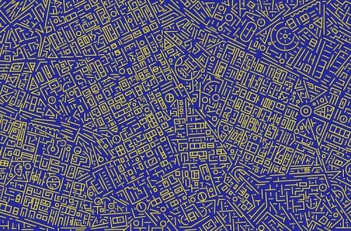 Спутниковые карты городов, превращённые в абстрактные узоры (9 фото)
