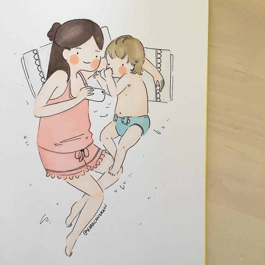 Молодая мама картинки прикольные