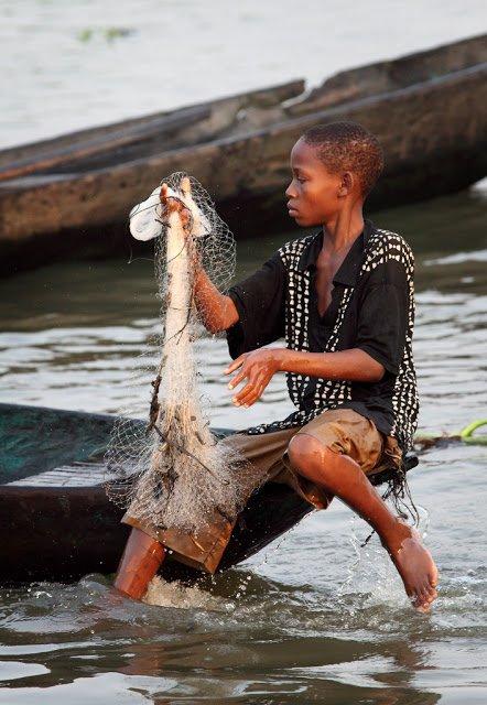 Ganvie - ciudad africana en el lago (35 fotos)