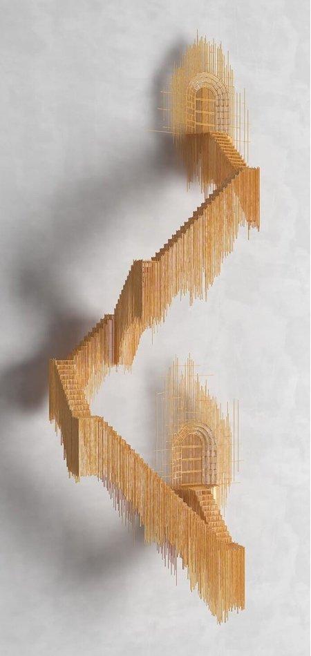 Стальная 3D-архитектура Дэвида Морено (12 фото)