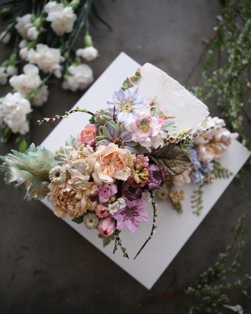 Потрясающие цветочные торты от Atelier Soo (29 фото)