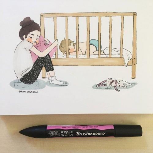 Повседневная жизнь молодой мамы с ребёнком в иллюстрациях Кары Вестерн (28 фото)