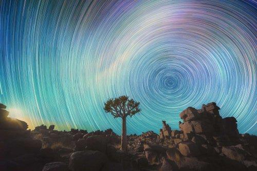 Звёздное небо над пустыней Намиб в фотографиях Даниила Корожонова (7 фото)
