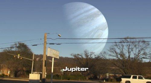 Если бы другие планеты были к Земле так же близко, как Луна (7 фото + видео)