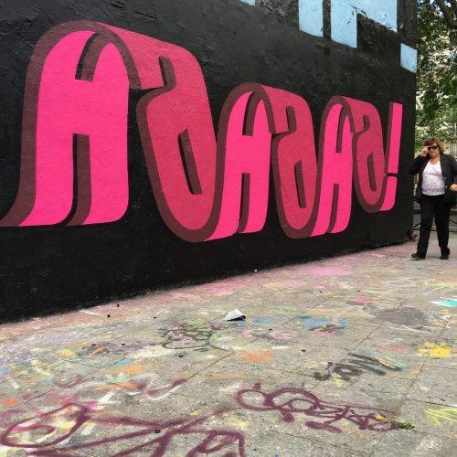 Многослойные надписи граффити-художника Pref (10 фото)