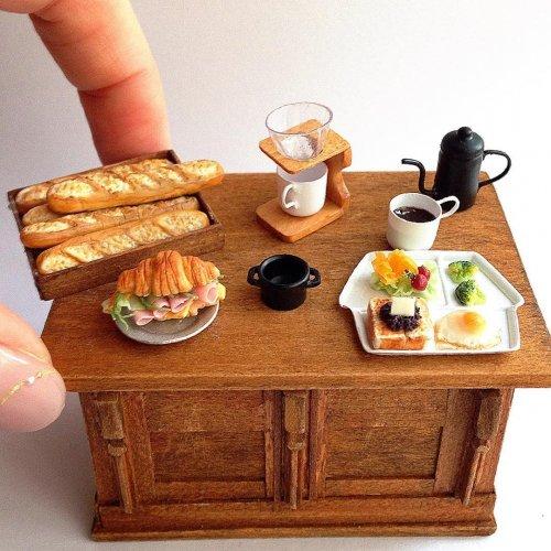 Микроскопические аппетитные скульптуры из полимерной глины (15 фото)