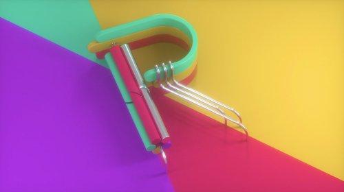 Красочный анимированный шрифт от дизайнера Бена Хюина (5 фото + видео)